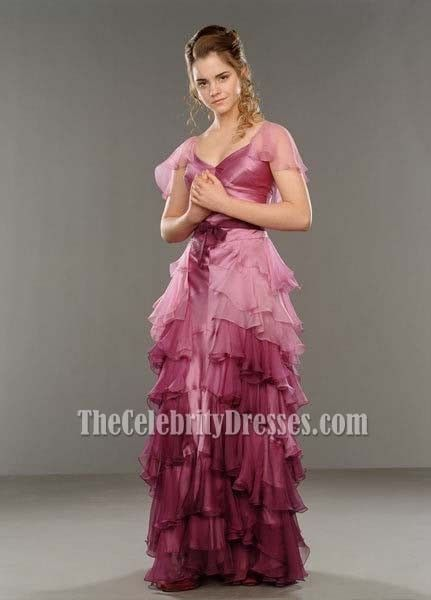 Emma Watson Elegant Prom Dress Evening Gown Harry Potter And The Goblet Of Fire Hermelien Griffel Hermelien Outfits