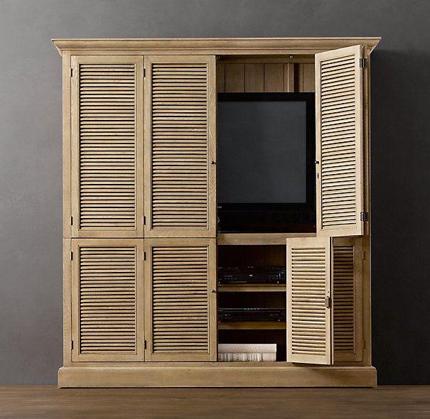 Shutter Media Armoire | Tv armoire, Armoire, Home