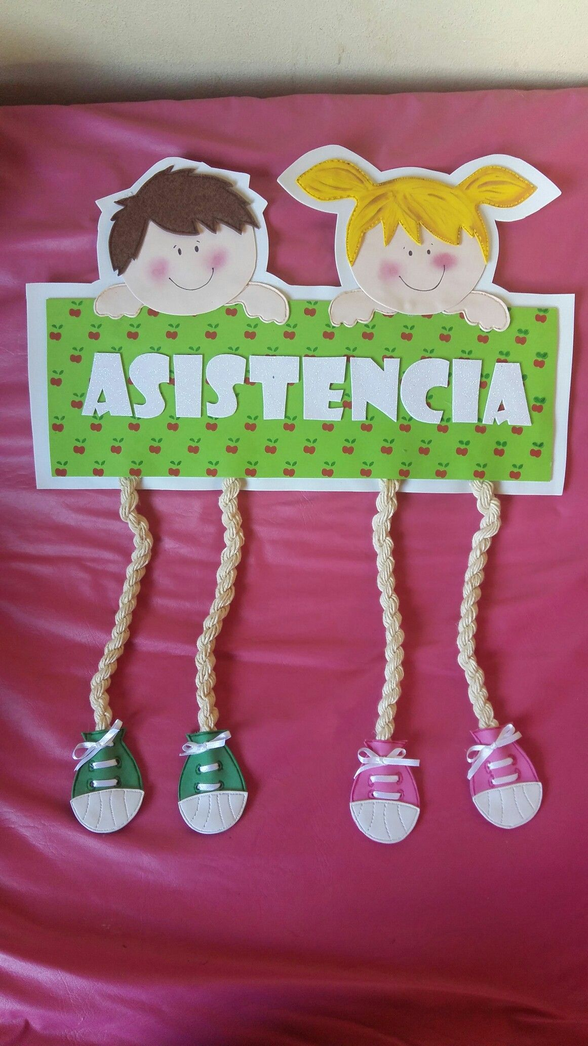 Cuadro de asistencia en goma eva espa ol pinterest school decorations crafts for kids y Ideas de decoracion manualidades