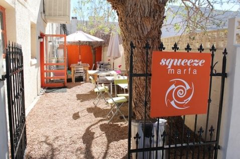 squeeze marfa // healthy breakfast! juice/smoothies/etc. across from the courthouse. tues - sun 8 am - 3 pm. closed on monday.