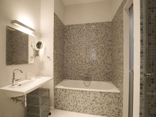 Grey bathroom, luxury bathroom, mozaic bathroom