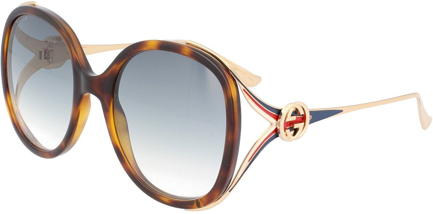 ef3a4dbada1 Amazon.com  Gucci Grey Gradient Sunglasses GG0226SK 004 60  Clothing Gucci  sunglasses for
