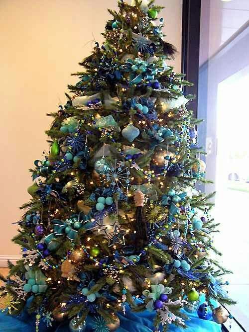 Teal Lime Green Teal And Gold Blue Christmas Tree Decorations Christmas Tree Themes Blue Christmas Tree