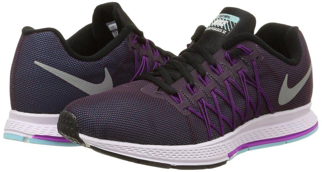 énorme réduction e30ce 2e3ec Nike Women's Wmns Air Zoom Pegasus 32 Flash, NEBULA PURPLE ...