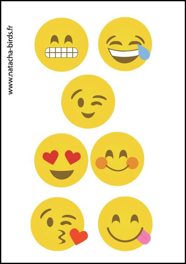Diy Des Emojis Partout Natacha Birds Emoji Birthday Emoji Birthday Party Emoticon Birthday