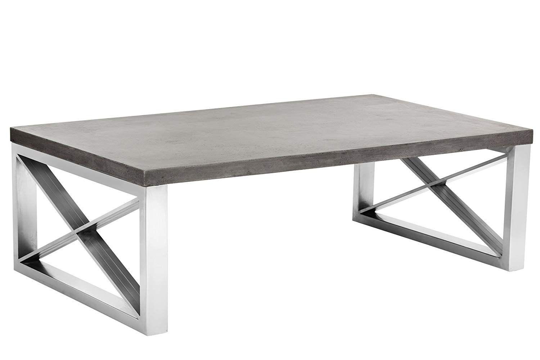 Wondrous Amazon Com Sunpan Modern Catalan Concrete Coffee Table Creativecarmelina Interior Chair Design Creativecarmelinacom