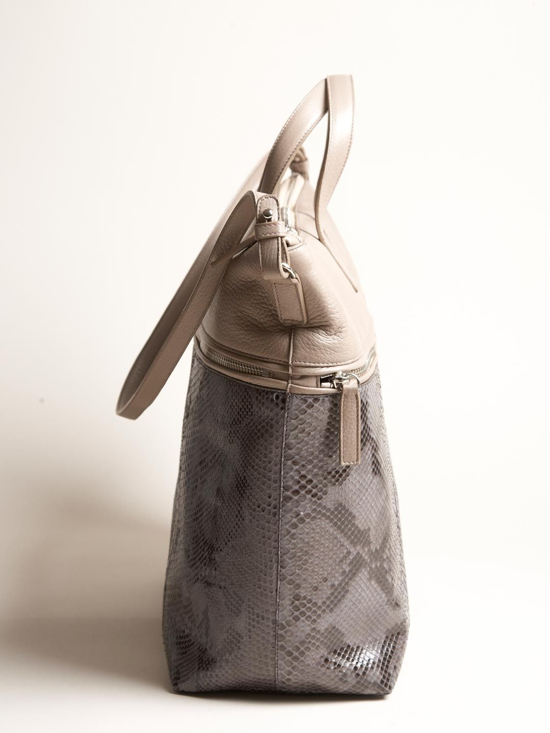 05ab6889a4a9 Jil Sander Men s Python Leather Geometric Tote is just what I want for  Christmas!