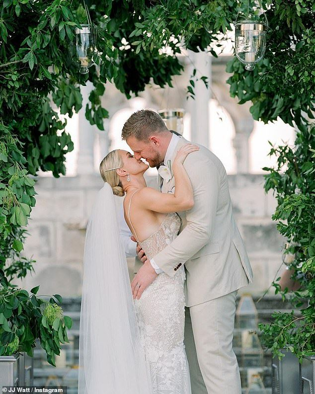 J.J. Watt shares pictures from his Bahamas wedding to