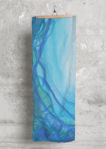 Cashmere Silk Scarf - Tarcoise blue by VIDA VIDA z019RXS