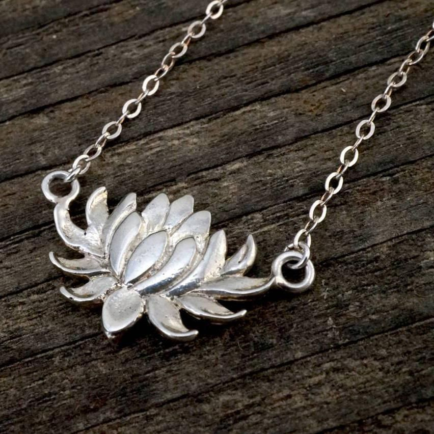 Flower Necklace Lotus Necklace Lily Necklace Flower