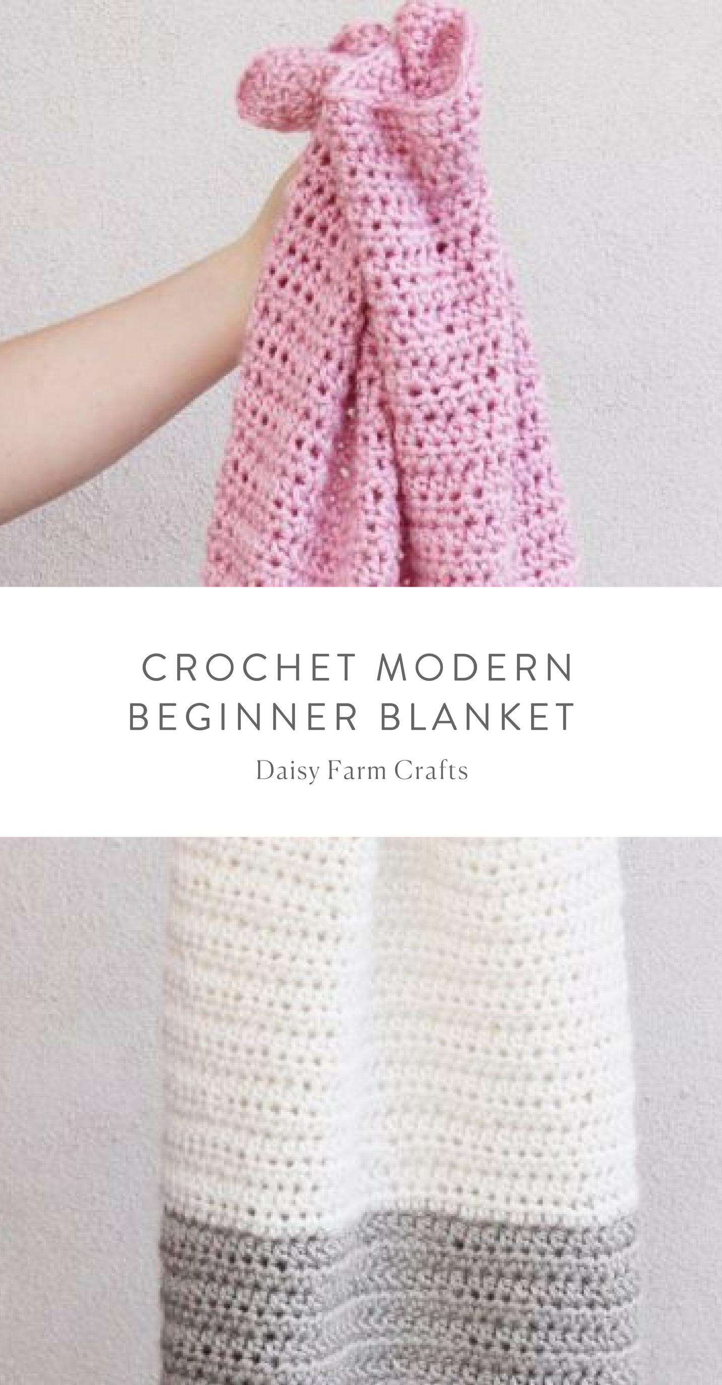 Free Pattern - Crochet Modern Beginner Blanket | Proyectos que ...