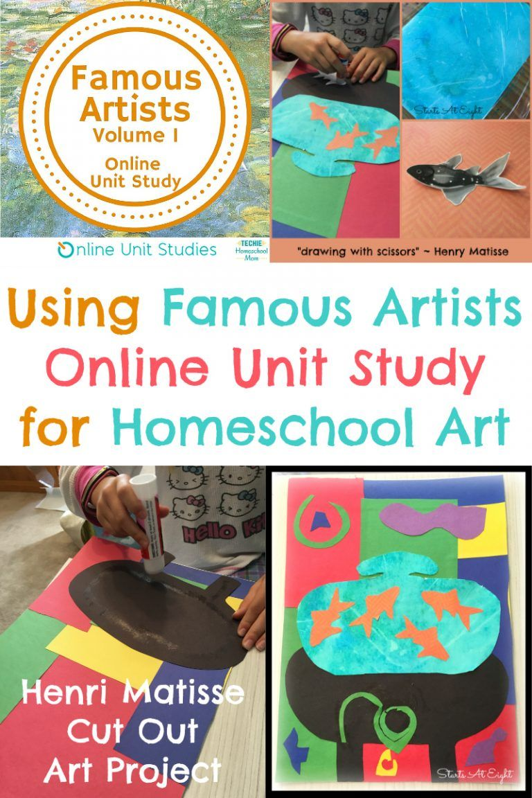 Photo of Using Famous Artists Online Unit Study for Homeschool Art