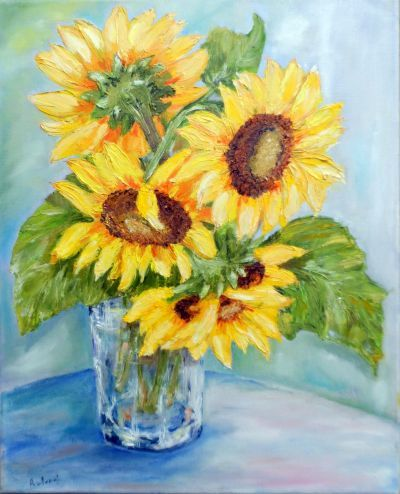 Sloneczniki Sunflower Flowers Art