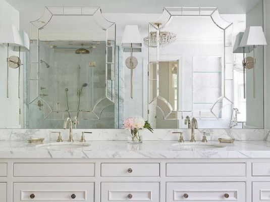 clever mirror framed mirror built | Renovating Roundup | Pinterest ...
