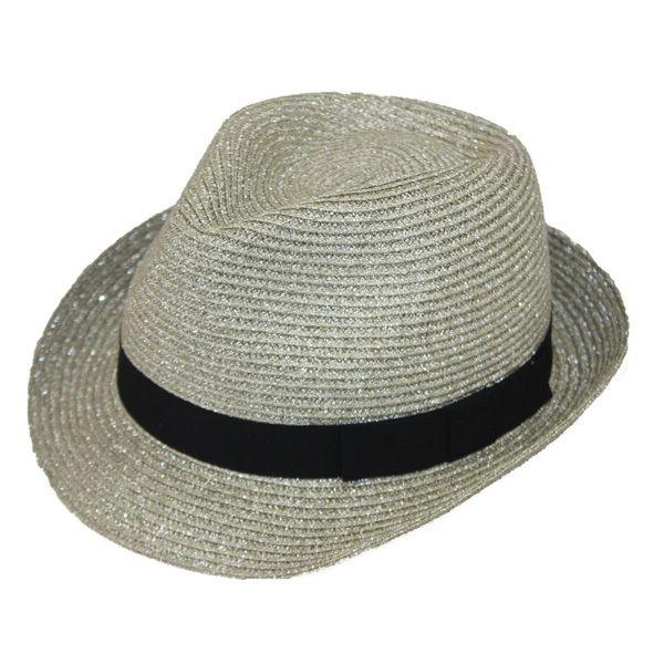 f4fb48beb839 Jeanne Simmons - Metallic Fedora Hat   Products   Fedora hat, Hats ...