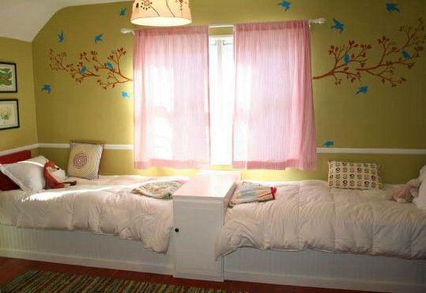 40 cute and interestingtwin bedroom ideas for girls kinderzimmer einrichten geschwister und. Black Bedroom Furniture Sets. Home Design Ideas