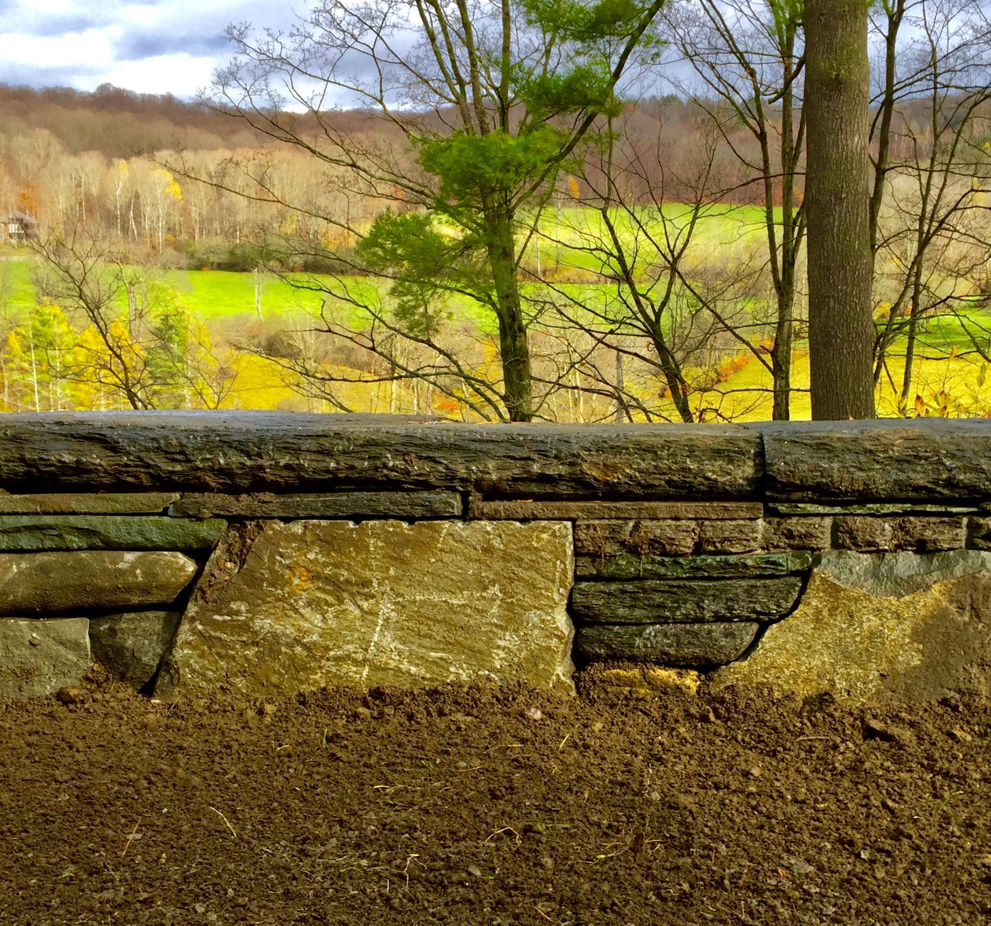 Dry stonewall close up. Vermont. Hector Santos. | Stone Walls ...