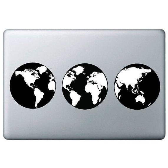 Custom Design Decal Sticker For Macbook Globe Decal Sticker - Custom vinyl decals australia