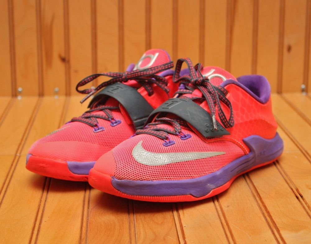 online retailer 2e393 e113a Nike KD VII 7 Size 3Y - Hyper Punch Grape Silver - 669944 601  Nike   BasketballShoes