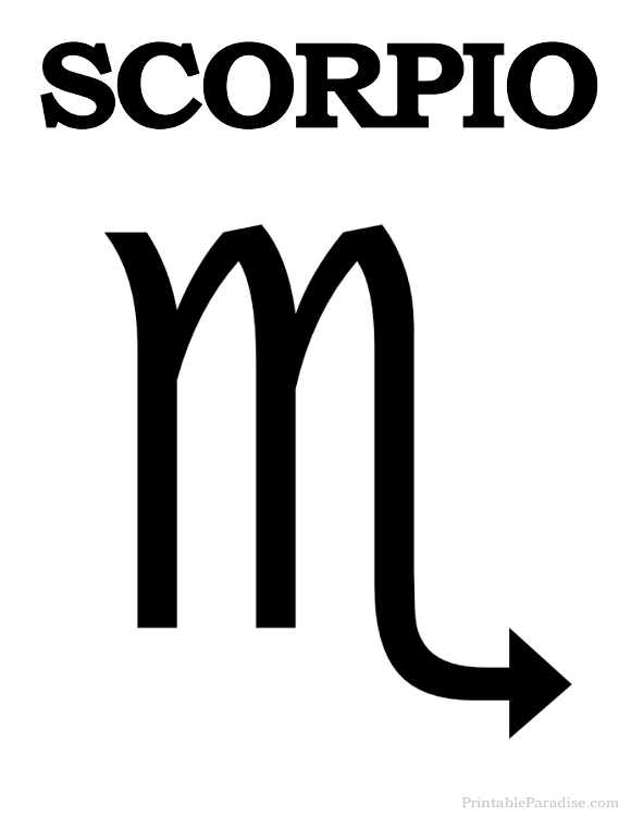 Printable Scorpio Zodiac Symbol Astrological Signs And Designs