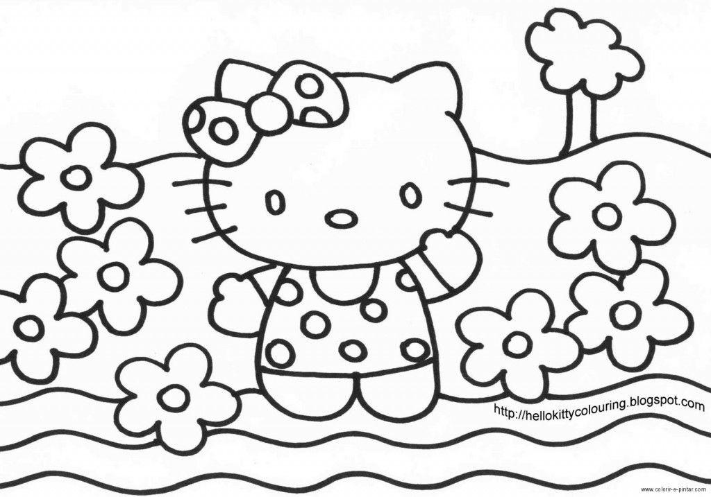 Desenhos para colorir da Hello Kitty | Hello Kitty | Pinterest
