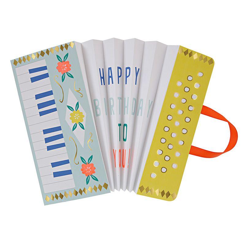 Accordion happy birthday fold greeting card music illustration accordion happy birthday fold greeting card music illustration m4hsunfo