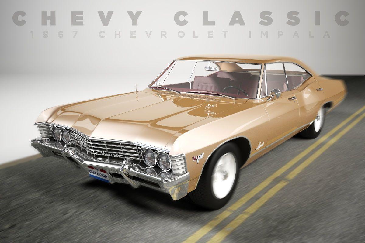 Chevrolet Impala 1967 4 Doors By Constantin958 Chevrolet Impala 1967 High Quality Polygonal Model B Chevrolet Impala 1967 Chevrolet Impala 1967 Chevy Impala