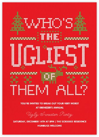 Ugly Sweater Party Invitations Online And Paper Paperless Post