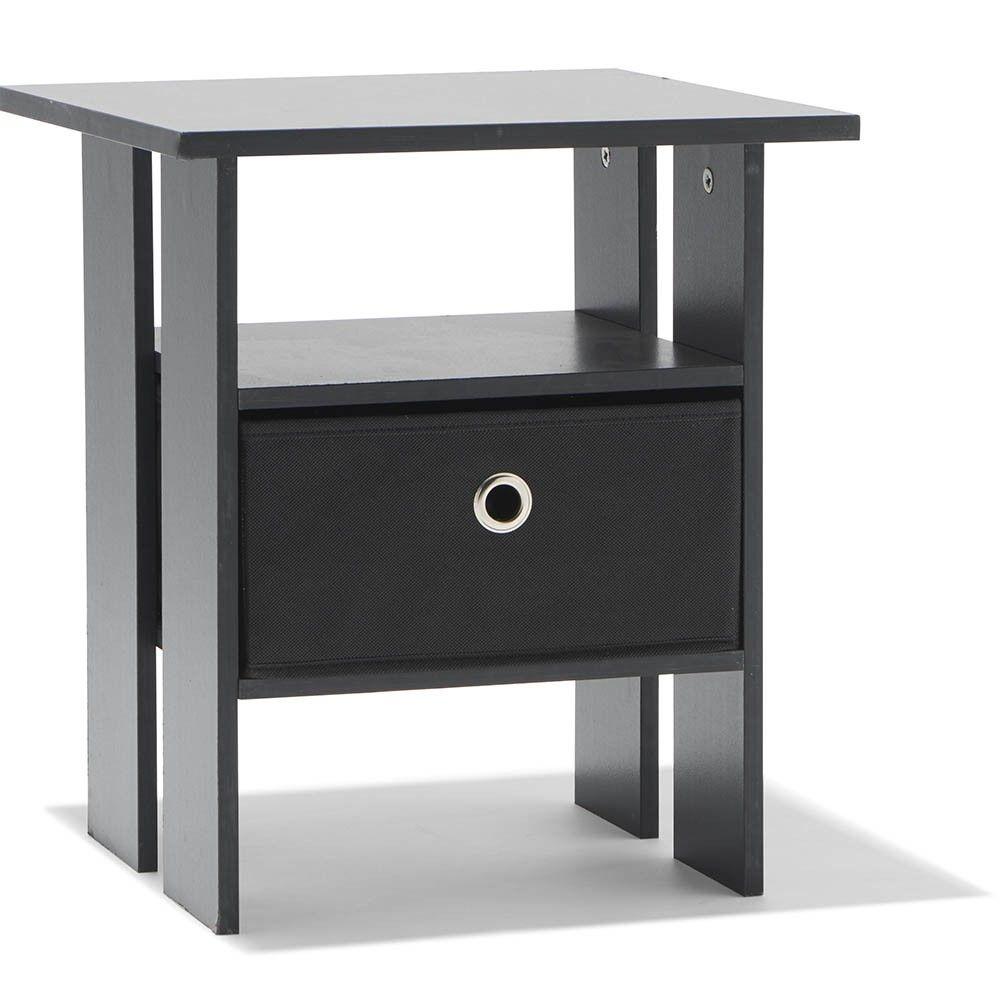 Table De Chevet Utah Noire 1 Tiroir Et 1 Niche Table De Chevet Chambre Meuble Gifi En 2020 Table De Chevet Meuble Gifi Tiroir