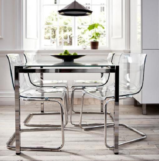 mesa cristal ikea - buscar con google | decoración | pinterest
