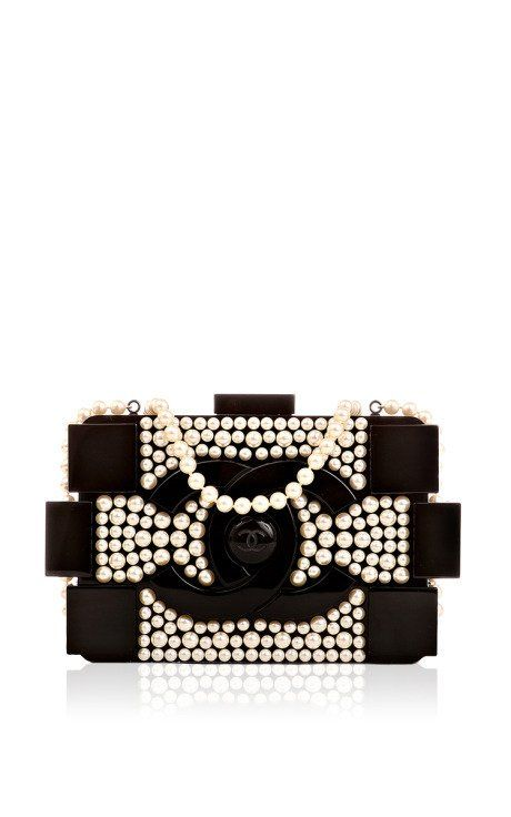 fb665a1439ab Chanel Limited Edition Pearlized Black Lego Clutch Boy Bag by Madison  Avenue Couture for Preorder on Moda Operandi