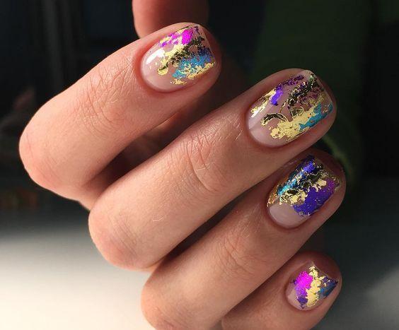 50pcs Nail Glitter Transfer Sticker Nails Glitter Tips Nail Art