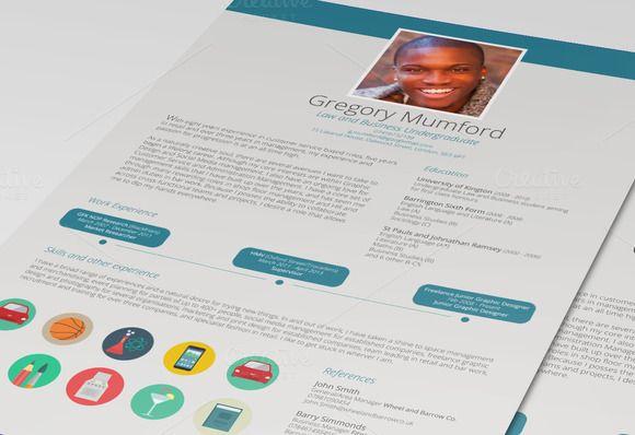 Dive Cv Resume By Desinoir On Creative Market Med Billeder
