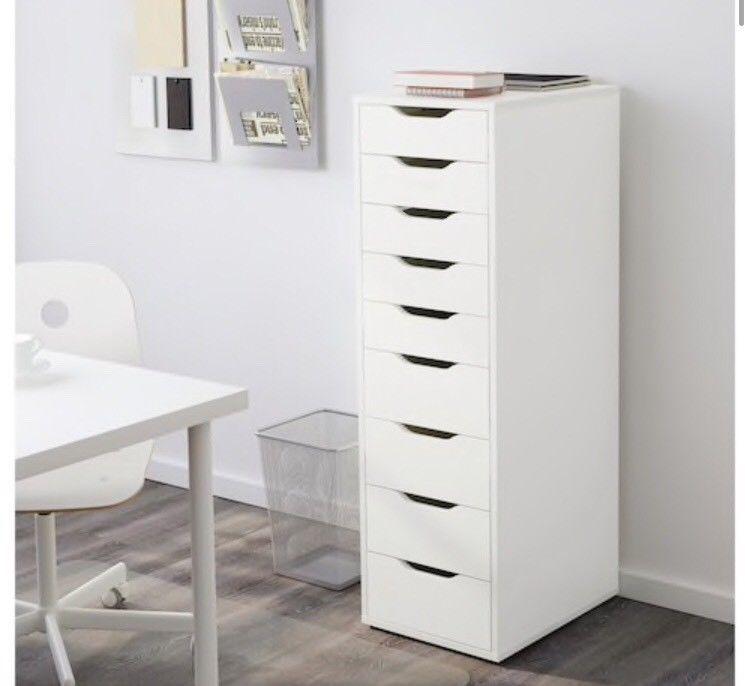 Ikea Alex 9 Schubladen Schreibtisch Aufbewahrung Container Schrän In