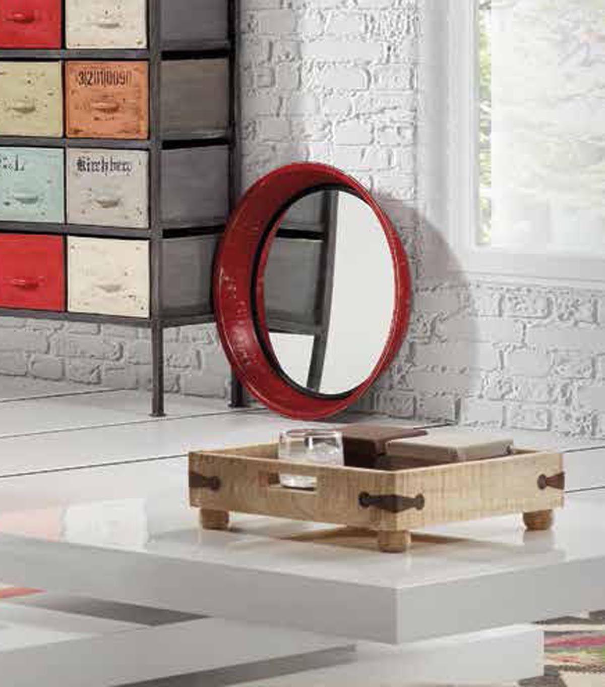 Metallspiegel ASSIDO in Rot. Ihr Online-Shop für dekorative ...