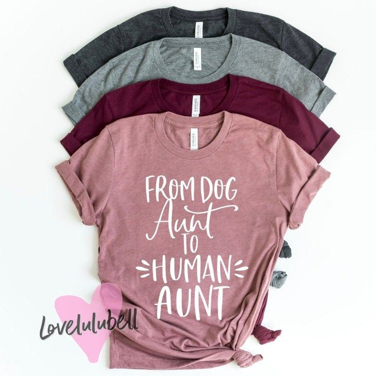 from dog aunt to human aunt shirt, pregnancy announcement shirt aunt, I'm not like a regular aunt I'm a cool aunt, Aunt shirt, auntie shirt