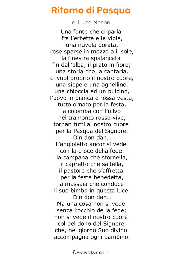 45 poesie di pasqua per bambini filastrocche pasqua for Poesia di pasqua per bambini