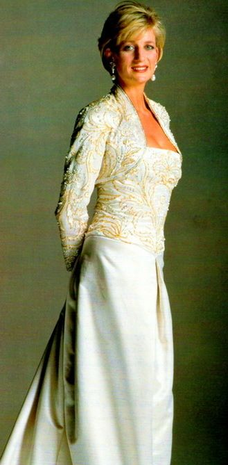 A Black Long Sleeved Dress Designed By Catherine Walker