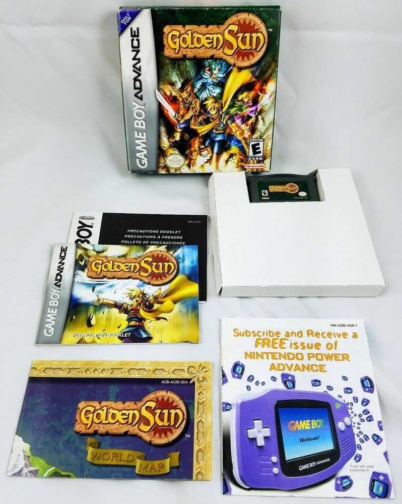 Golden Sun RPG Nintendo Gameboy Advance GBA Complete In Box W/ Map! **