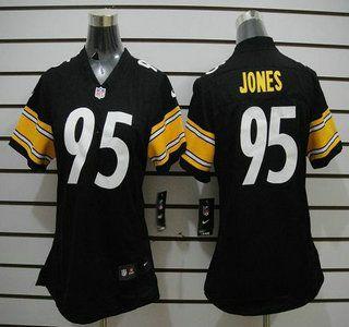 nike nfl pittsburgh steelers jerseys 95 jarvis jones black limited womens jersey