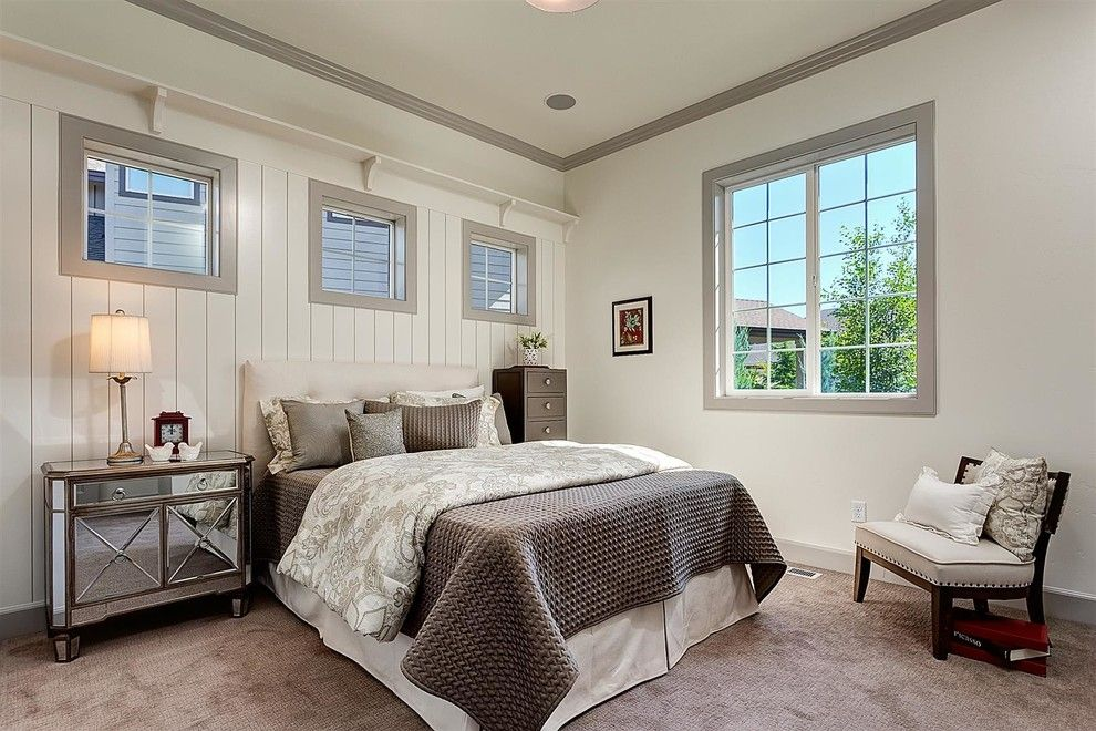 Chic Lingerie Chest Convention Boise Traditional Bedroom Decoration Ideas With Gray Carpet Trim Mirrored Nightstand