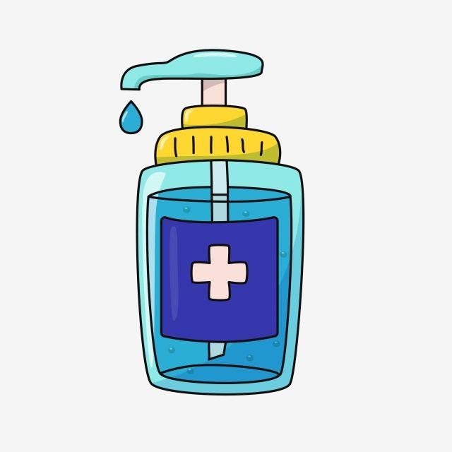 Hand Sanitizer Vector Illustration In Cute Cartoon Style Vector And Png Cartoon Styles Vector Illustration Cute Cartoon