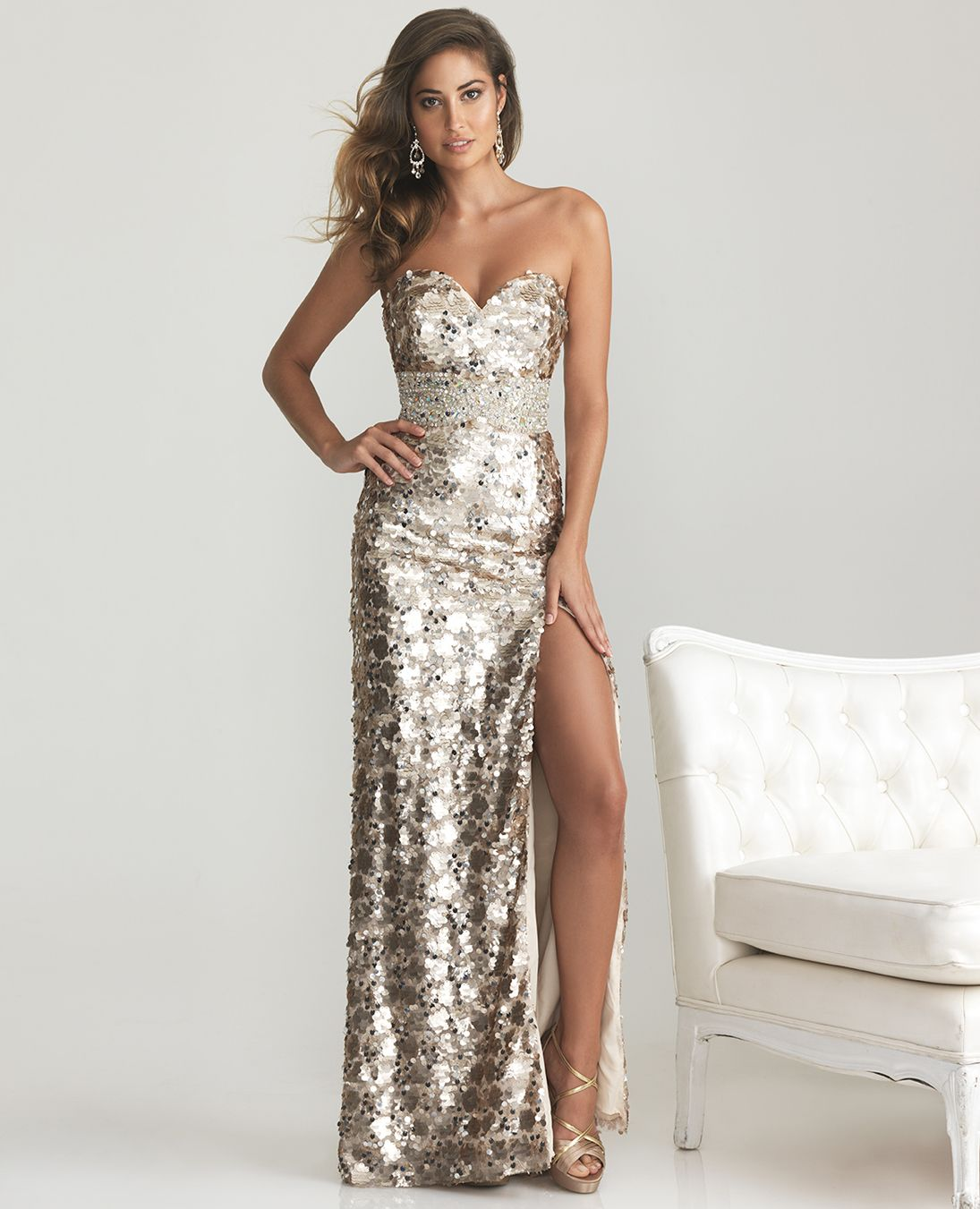 Images of Sequin Prom Dresses - Reikian
