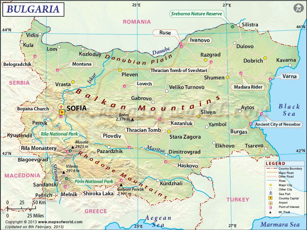 Blgariya Bulgaria Image From Http Www Mapsofworld Com Bulgaria