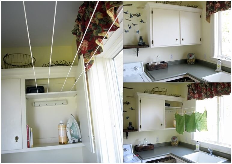 10 Clever Clothes Hanging Solutions For Your Laundry Room 6