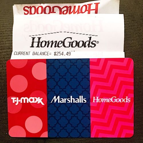 Coupons Giftcards 254 49 Tj Maxx Marshalls Homegoods Gift