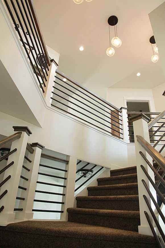 Best Modern Farmhouse Home Tour With Household No 6 Modern Staircase House Stairs Staircase Design 400 x 300