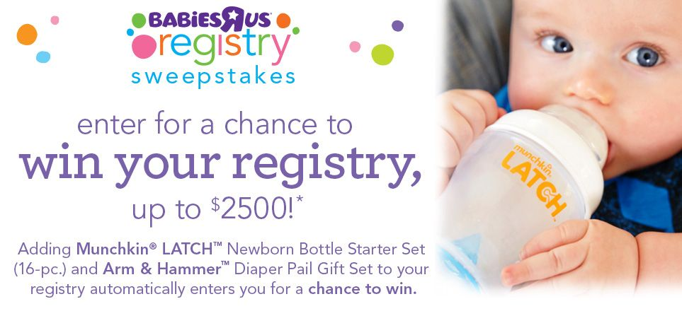 Win Baby Registry Sweepstakes Contests Giveaways Babies R Us Newborn Bottles Sweepstakes Arm And Hammer Diaper Pail