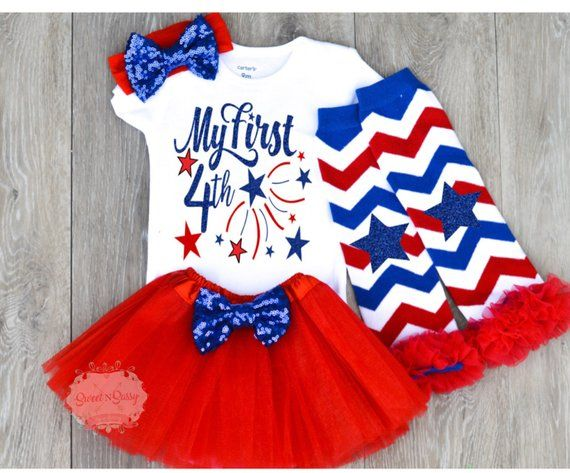 62a0920bc38 Baby 4th of July outfit My first 4th of July Girls 4th of July Girls 4th of July  outfits Infant Four