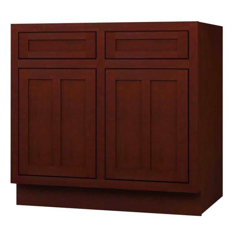 Sagehill Designs Ldb36s Lakewood 36 Double Door Sink Base Cabernet Kitchen Cabinets Base Cabinets 36 Inch Base Cabinets